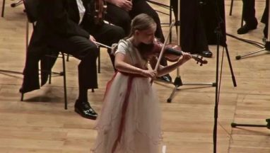 9-year Old Prodigy Performs Her Own Violin Conerto