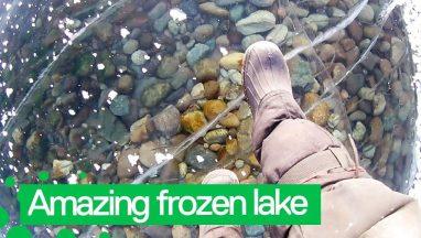 Amazing Walk Across World's Deepest Frozen Lake