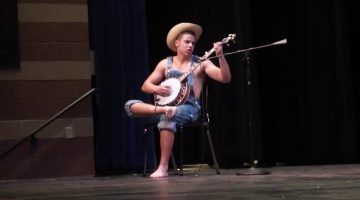 Hillbilly Banjo Player at a High School Talent Show
